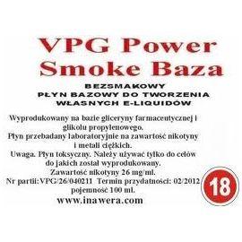 Inawera - VPG Smoke Base Power 18mg - 100 ml