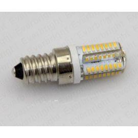 Bec cu 64 LED-uri 4W dulie E14 220v lumina alba calda