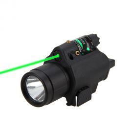 Kit tactic cu laser rosu 5mw si lanterna 300 lumeni, compatibil picatinny