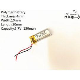 401030 - Acumulator Li-Polymer - 3,7 V - 130mah - 40x10x3 mm