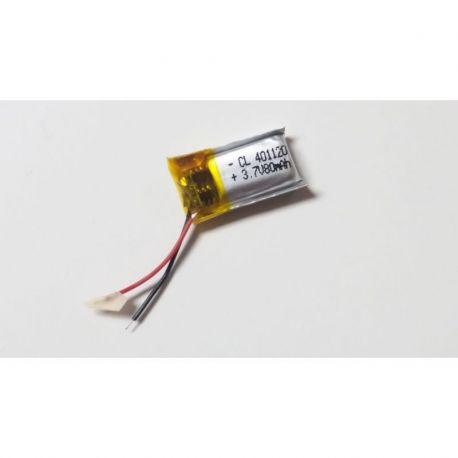 401120 - Acumulator Li-Polymer - 3,7 V - 80mah - 11x20x4 mm