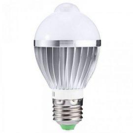 Bec cu LED 7W dulie E27 cu senzor de miscare si lumina alba