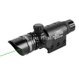 Kit tactic cu laser verde 5mw cu inele de montare
